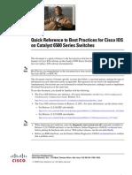 Cisco Best Practice Reconmendations