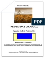 Sample Apprasial Analysis . the Diligence Group
