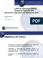 AppSecBR2010 Utilizando API ESAPI Tarcizio
