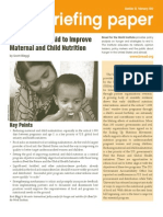 Improving Food Aid to Improve Maternal and Child Nutrition