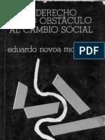 El derecho como obstáculo al cambio social (algunos capítulos) - Eduardo Novoa Monreal