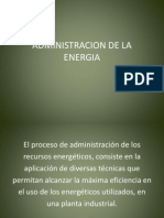 Administracion de La Energia
