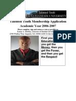 Talented Tenth Application PDF