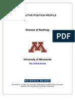 Executive Profile -UMN Director of Northrop