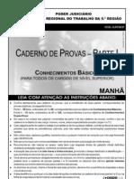 Prova Geral do concurso do Tribunal Regional do Trabalho da Bahia