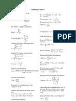 Formula Sheet MDM4U