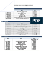 Manfest Schedule 2012