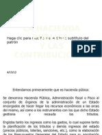 La Hacienda Publica y Las Contribuciones