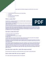 Filtration Process Description