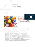 Guía básica de HTML 5 para diseñadores web
