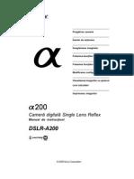 Manual de Utilizare Sony A200