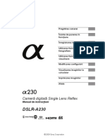 Manual de Utilizare Sony A230