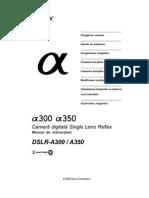 Manual de Utilizare Sony A300-A350