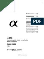 Manual de Utilizare Sony A850