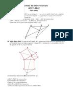 Questões da UFPE-UFRPE - Geometria Plana