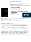 The Impact of Crowdfunding on Journalism - Case Study of Spot.Us