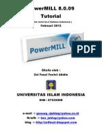 PowerMILL 8.0.09 Tuto Rev2(Ind)