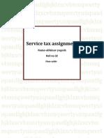 Service Tax Assignment