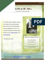 2030 Activities April Edition