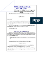 12549147 1853 Most Difficult Words in GRE Exam