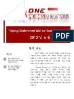 Proposal One Indonesia Day_korean Version