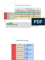 Cuadro de Las Cargas y Sus Datos de Placa