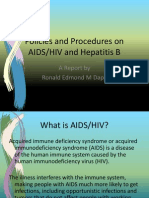 Policies and Procedures on AIDS