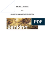 Project Report Banking Management System