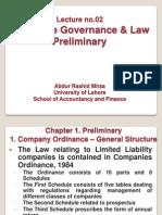 Lecture No.02 Preliminary