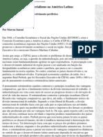 a cepal e a teoria do desenvolvimento periférico, por marcos ianoni