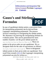 Gauss's and Stirling's Formulas