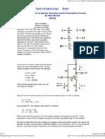 Transistor Amplifier Design Procedure