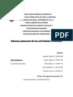 Informe Quincenal Del Servicio Comunitario