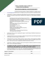 Pete King Constructiion Company Employee Handbook
