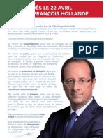 François Hollande | Tract 1er tour