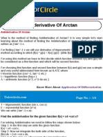 Antiderivative of Arctan