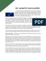 Fears Over Wide - spread EU Fraud - justified