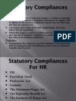 Statutory Compliances For HR