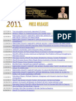 2011 MCSO Press Releases