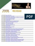 2008 MCSO Press Releases
