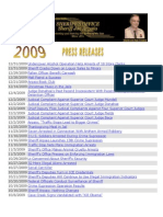 2009 MCSO Press Releases