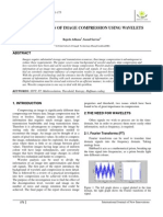 Representation of Image Compression using Wavelets