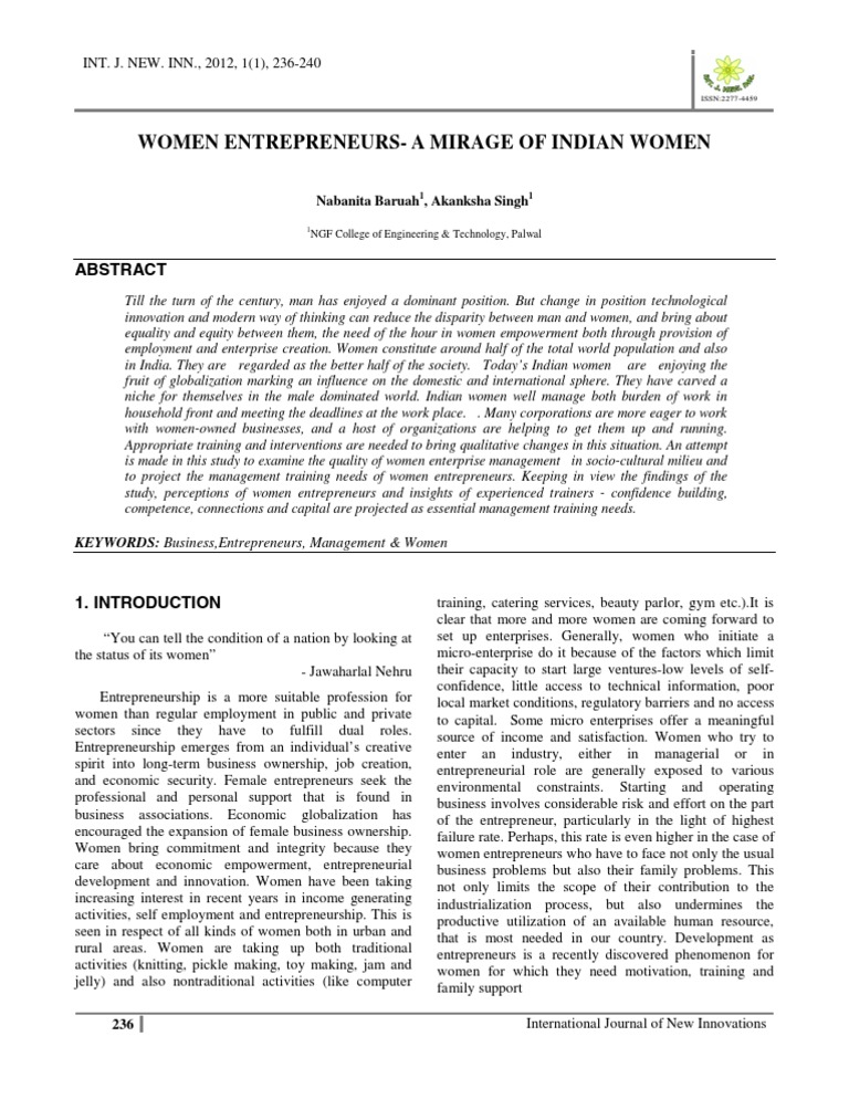 history of women entrepreneurship in india