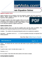 Algebraic Equation Solver