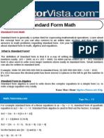 Standard Form Math