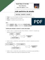 8o Ano - Ficha Informativa - Composicao Qualitativa de Solucoes