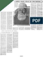 Abdul-Baha New York Times Article April 21  1912