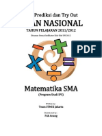Soal Try Out Un 2012 Sma Matematika Ips Paket 24