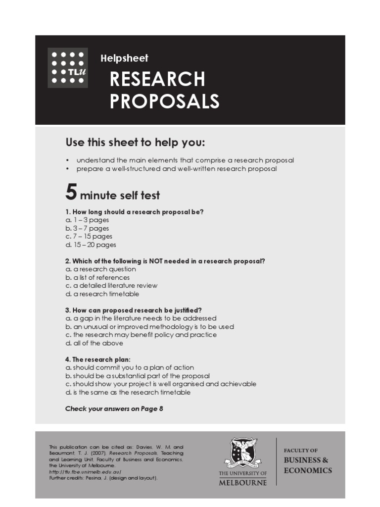 Research Proposal | Literature Review | Thesis
