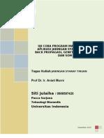 Aplikasi Jaringan Syaraf Tiruan Dengan Program Matlab (Bp, Ga, Dan Som)